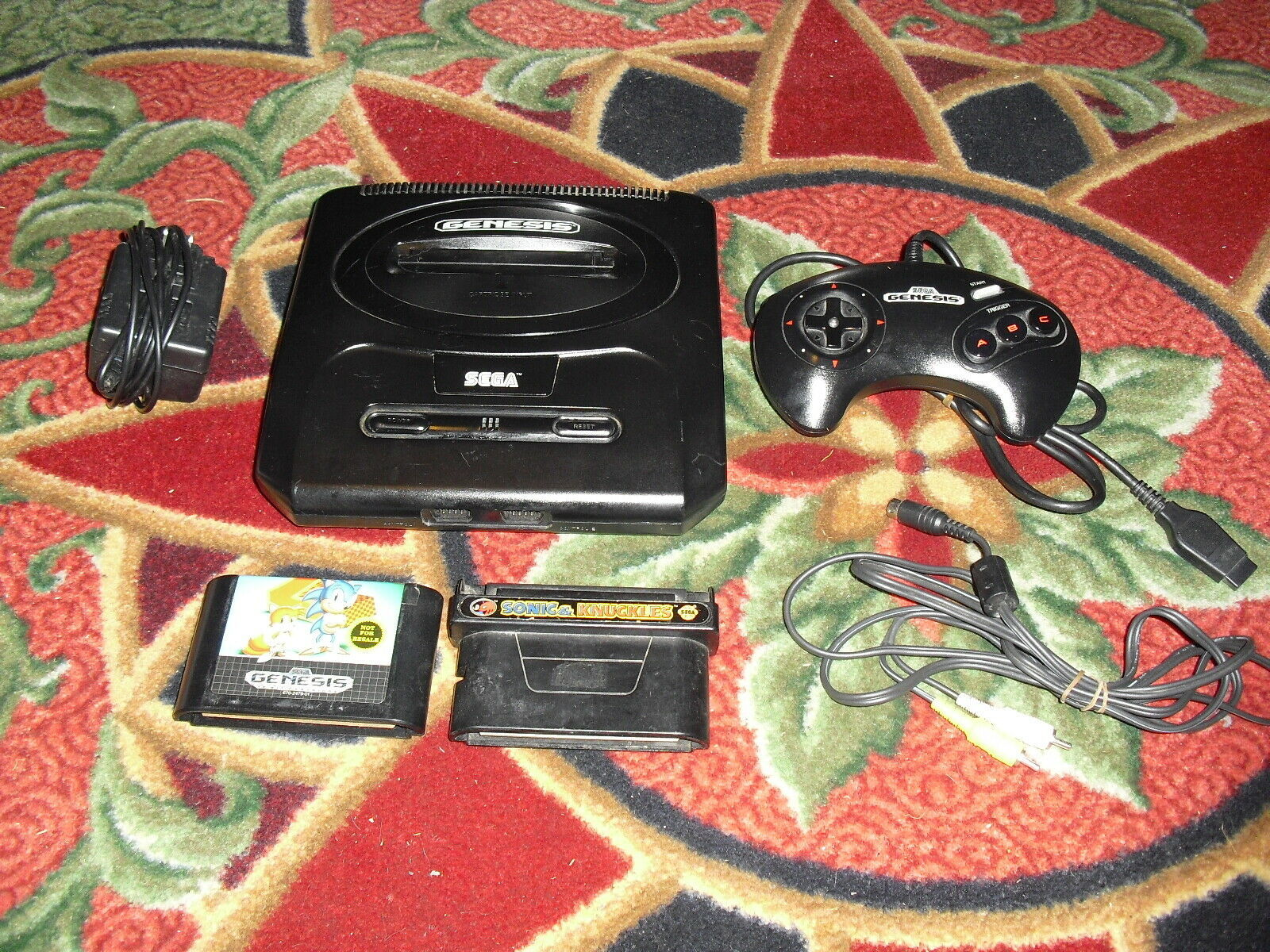 Primary image for Sega Genesis 2 Console (NTSC) SONIC 2 ,SONIC & KNUCKLES ,CONTROLLER AND HOOK UPS