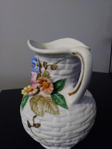 White Floral Design Amart of Taiwan  Porcelain Bisque Capodimonte Finish Vase or image 2
