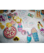 Vintage 80s Barbie Collectables 60+ Cardboard Accessories Posters Music ... - $15.43