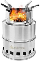 SOLEADER Portable Wood Burning Camp Stoves - Compact Gasifier Stove - Tw... - $40.00