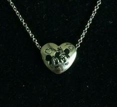 """Disney Silver Tone Heart Pendant """"True Love"""" Stainless Steel 18"""" - $19.79"""
