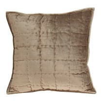 Parkland Collection Byblo Transitional Taupe Solid Quilted Pillow Cover ... - $56.08
