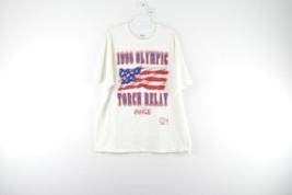 Vintage 90s Mens XL 1996 Olympic Torch Relay Atlanta Coca Cola USA T Shi... - $43.51