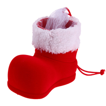1pc Christmas Boots Flocking Boots Creative Gift Box of Candy Decorative... - $16.00
