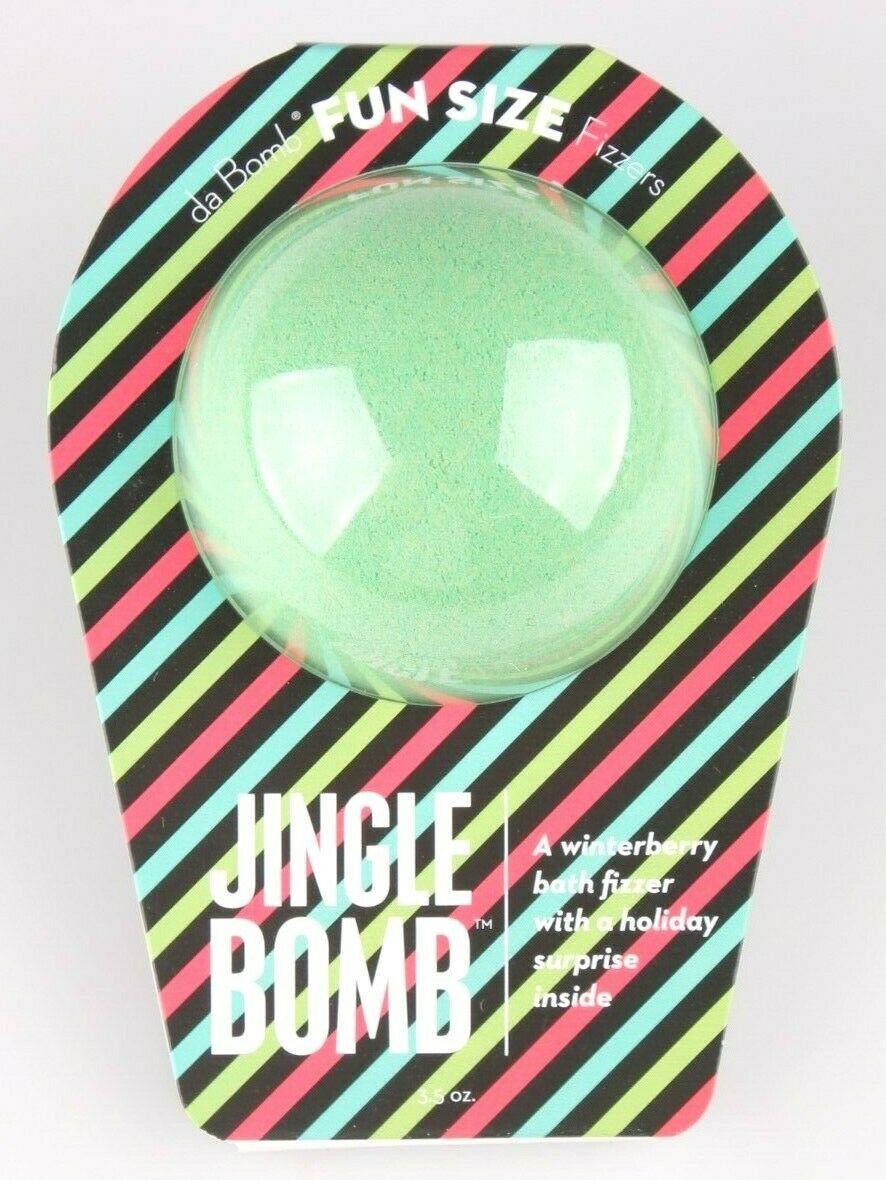 Da Bomb Bath Fizzers Winterberry Jingle Bomb with Surprise Inside Fun size 3.5oz