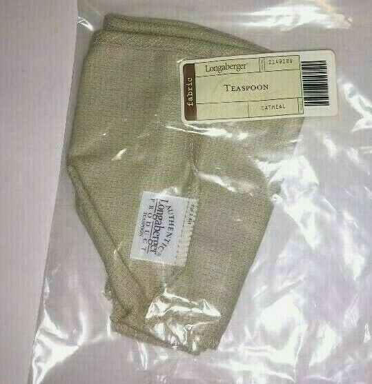 Primary image for Longaberger Teaspoon Basket Liner ONLY Oatmeal Tan New 2149189