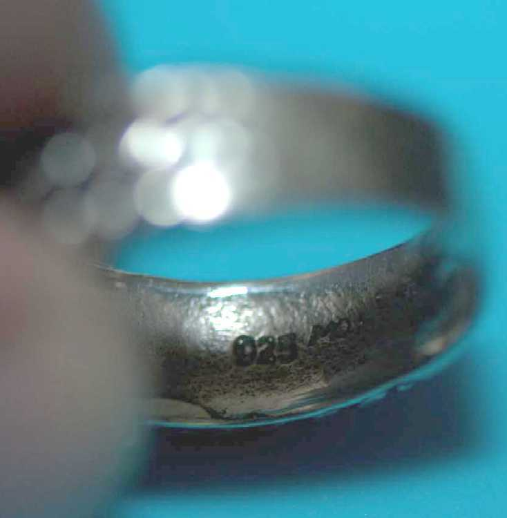Sterling Silver Ring Braided X Sz 8