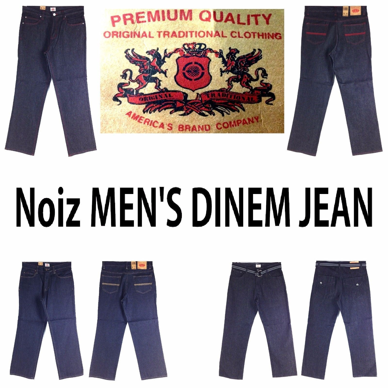 Primary image for NOIZ ASSORTED STYLE, CLASSIC, MEN'S LONG DENIM JEANS,