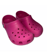 Crocs Classic Clog Sandal Water Shoe Candy Pink Girls Size 12 13 Slip On  - $17.99