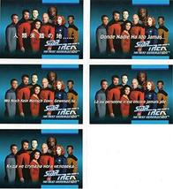 1992 Impel Star Trek TNG Set of 5 Foreign Language Cards MINT - $8.81