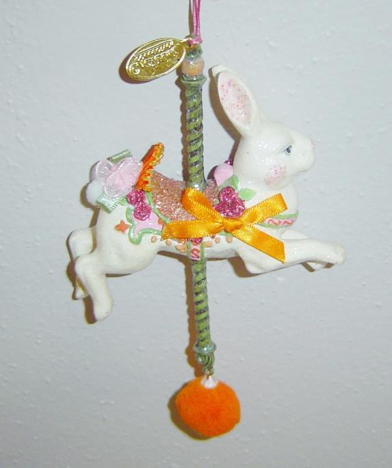 Katherine's Collection Carousel Rabbit Figurine Christmas ...