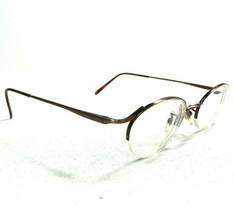 Calvin Klein 345 575 Sunglasses Eyeglasses Frames Brown Oval Round Half ... - $37.39