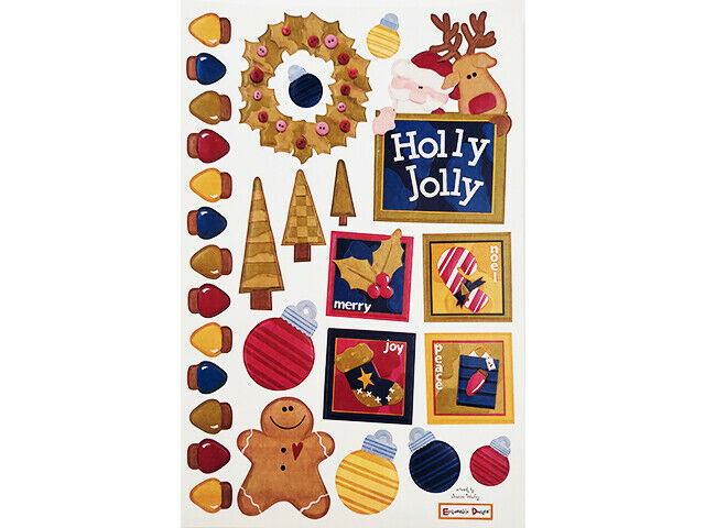 We R Memory Keepers Embossed Christmas-Related Cardstock Embellishments