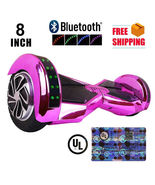 "Chrome Hot Pink Lambo 8"" Bluetooth Speaker Self Balancing Wheel Electric... - $279.00"