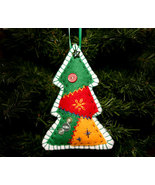 Country Handcrafted Patchwork Christmas Tree Ornament - $8.00