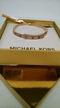 MICHAEL KORS Rose God Tone Pave Embellished Studded  Bracelet MKJ4015791... - $75.17