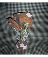 Wooden Rural Mailbox for Christmas, 8 1/2 inches tall - $6.50