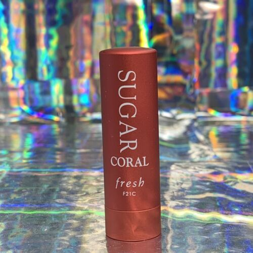 NWOB fresh beauty SUGAR LIP TREATMENT 2.2g CORAL SUNSCREEN SPF15 DELUXE TRAV Sz