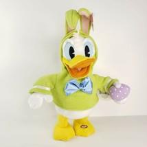Hallmark Animated Donald Duck Easter Rabbit Plush Don't Pull My Ears Wat... - $25.00