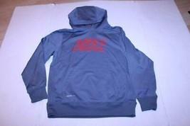 Youth Boys Nike Therma Fit L Grey & Red Hooded Sweatshirt Hoodie - $21.49