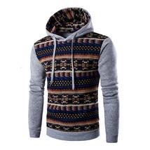 2017 Hoodies Mens Hombre Hip Hop Male Brand Hoodie Fashion Geometric Pri... - $31.08+