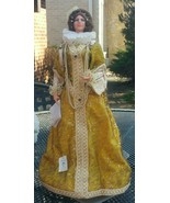 "Vintage Marin Chiclana Dama Ilustre Spain Gold Dress 17"" Stand Tag - $49.49"