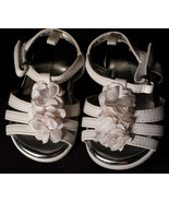 Sweet Baby Girl's Size 2 Infant Toddler White Floral Designed Velcro San... - $15.00