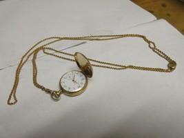 Elgin Mechanical Wind Up Necklace Pendant Watch , Vintage , Adjustable Chain - $94.05