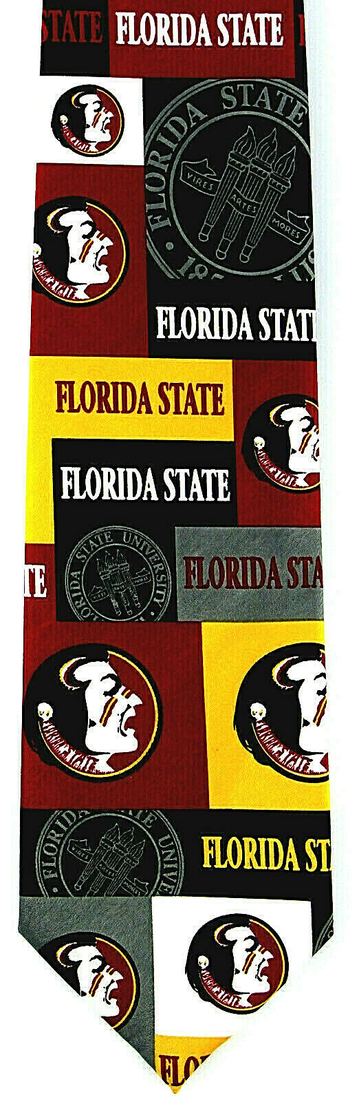 Florida State Seminoles Men's Licensed Necktie College University Red Neck Tie