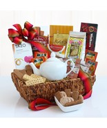 Ultimate Tea Time Delights: Gourmet Tea Gift Basket - $79.99