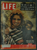 Life Magazine April 16, 1956 The Epic of Man Part IV- Glubb's Warning  Mid-East - $2.50