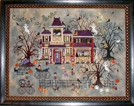 Widow Black's B&B halloween cross stitch chart Praiseworthy Stitches - $12.60