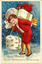 Hearty Good Wishes Ellen Clapsaddle 1912 Vintage Post Card - $8.00