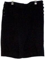 Ann Taylor Loft Long Black Side Button Long Shorts Size 16 - $8.00