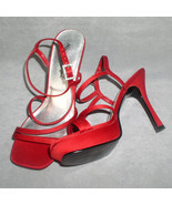 Red High Heels Skechers Sandal Dress Shoes  Size 6 - $28.00