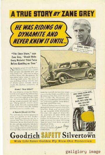 1937 Goodrich Silverton Tires 2 Vintage Magazine Ads