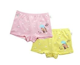 2 Pcs Cute Little Girls Underwears Elastic Briefs Panties Kids Underpants Set