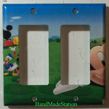 Mickey Mouse House Club Light Switch Duplex Outlet wall Cover Plate Home decor image 5