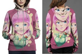 archer close up HOODIE ZIPPER FULLPRINT WOMEN - $60.99+