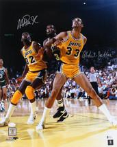 Magic Johnson & Kareem Abdul-Jabbar Signed Los Angeles Lakers 16x20 Photo - $243.09