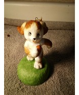 FOOTBALL  ORNAMENT--PUPPY -- CHRISTMAS --HANGING----FREE SHIP--NEW - $10.08