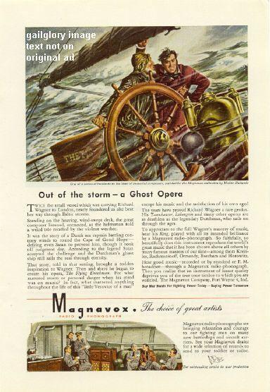 1944 Magnavox Radio Phonograph 3 Vintage Print Ads
