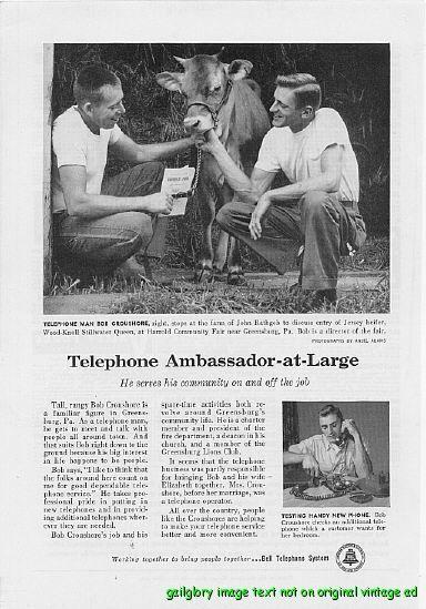 1957 Bell Telephone Systems 5 Vintage Print Ads