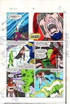 1984 Iron Man 181 page 6 original Marvel Comics color guide art: 1980's ... - $99.50