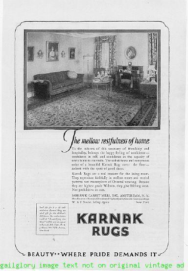 1924 Karnak Rugs By Mohawk Carpet 4 Vintage Print Ads