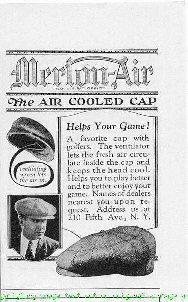 1924 Merton-Air The Air Cooled Cap 2 Vintage Print Ads