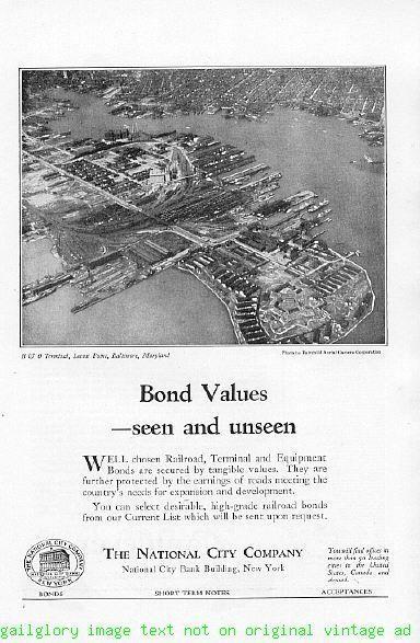 1924 National City Company Bank 4 Vintage Print Ads