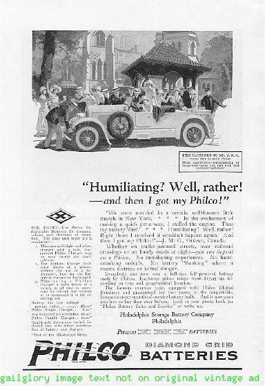 1924 Philco Batteries 5 Vintage Magazine Print Ads