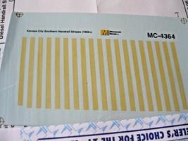 Microscale Decals Stock #MC-4364 Kansas City Southern Handrail Stripes Yellow HO image 2