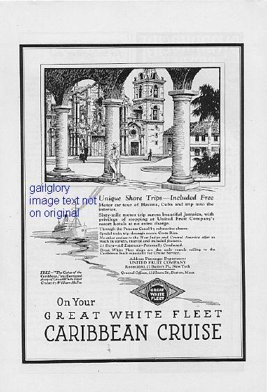 1923 French Line, Great White Fleet 2 Vintage Print Ads